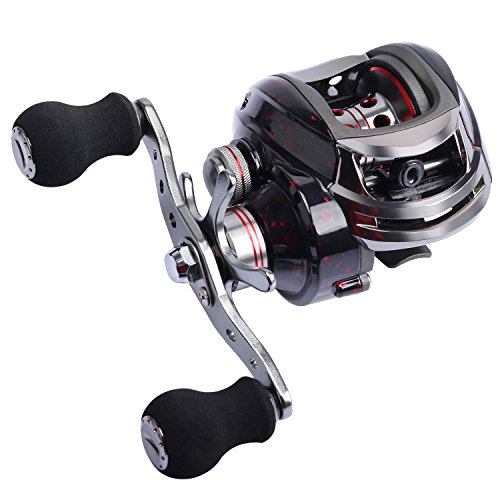 Goture Baitcasting Fishing Reel with 13+1 Shielded Bearing 13.2LB Drag Low Profile Baitcaster Reel with Magnetic Brake System for Freshwater Saltwater Carp Bass Crappie Catfish Walleye Trout