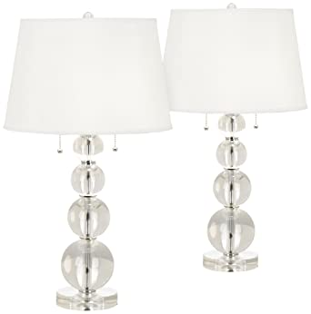 Stacked Crystal Spheres Table Lamp Set Of 2 Amazon Com