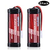 AWANFI 7.2V 4200mAh RC Battery High Capacity NiMH Battery with Tamiya Connector for RC Car RC Truck RC Boat Traxxas LOSI Associated HPI Kyosho Tamiya Quadcopter Drone Hobby(2 Pack)
