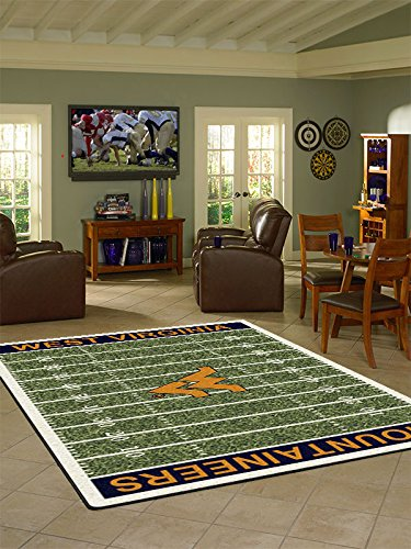 West Virginia College Home Football Field Rug: (2706 Rug)