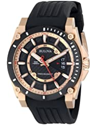 Bulova Mens 98B152 Precisionist Analog Chronograph Black Watch