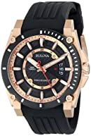 Bulova Men's 98B152 Precisionist Rubber Strap Watch