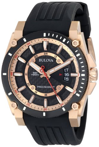 Bulova Precisionist Men's Analog Watch Black 98B152