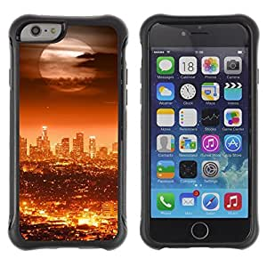 Be-Star Unique Pattern Anti-Skid Hybrid Impact Shockproof Case Cover For Apple iPhone 6(4.7 inches) ( Full Moon Modern City ) Kimberly Kurzendoerfer