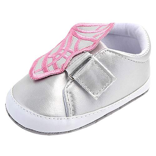 OCEAN-STORE Kid's Lightweight Sneakers Boys Girls Casual Sport Running Walking Shoes (Toddler/Little Kid) Two Wheels Roller Skate Kids Sports sneakerSilver6-9 Months by OCEAN-STORE (Image #1)