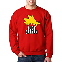 0a6e86bbb5b New Way 620 - Crewneck Just Saiyan Sayin DBZ Hair Super Dragon Ball Unisex Pullover  Sweatshirt
