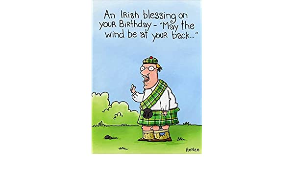 Amazon Irish Blessing Oatmeal Studios Funny Birthday Card Kitchen Dining