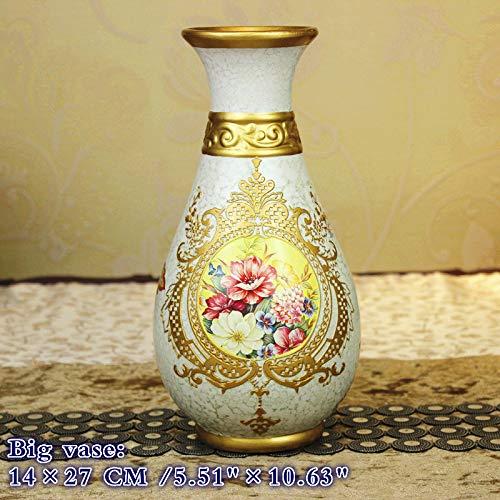 NEWQZ Exquisite and Elegant European Ceramic Vase, 3-Piece Set, Home Decoration and Furnishing