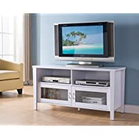 47 Smart Home Modern Entertainment Console TV Stand Collection (White)