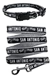 San Antonio Spurs Nylon Collar and Matching Leash for Pets (NBA Official by Pets First) Size Small