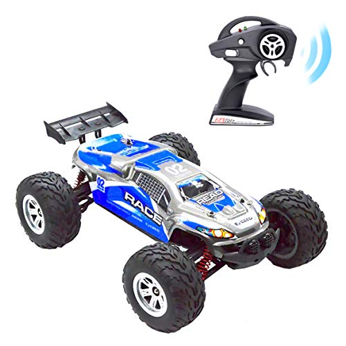 - Remote Control Car RC Car, KELIWOW 1/12 Scale 18.64 MPH Waterproof 4WD 2.4GHz Off-Road All Terrain Truck with Independent Suspension (Blue)