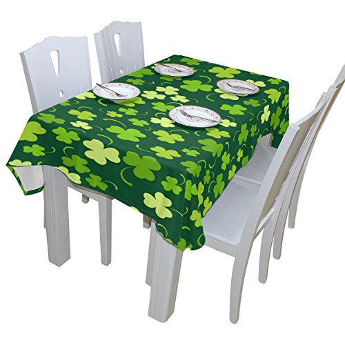 BAIHUISHOP St. Patricku0027s Day Shamrock Tablecloth Rectangular Polyester  Wedding Indoor Outdoor Oblong Dining Room Table