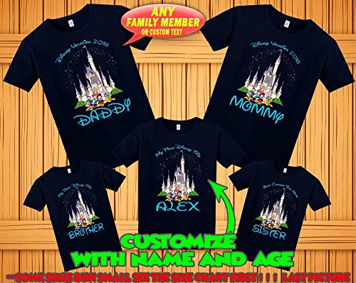 Personalized Disney Shirts For Kids (Disney family matching custom t-shirts, Family vacation disney shirts, custom Personalized disney shirt, Personalized Disney Shirts for)