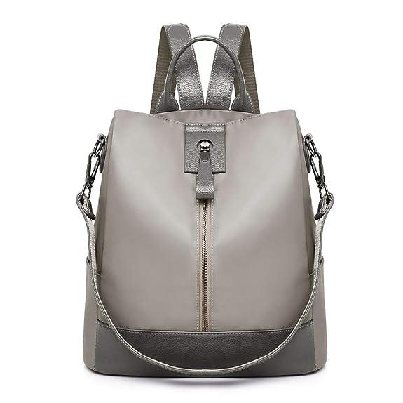 Bolsos Para mujer, RETUROM Mochila de mujer Impermeable Oxford Stitching School Bag Bolsa de viaje de gran capacidad (S, Caqui): Amazon.es: Zapatos y ...