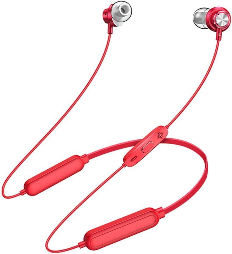 Auriculares Bluetooth Inalámbrico de Movimiento Que se Ejecuta biauricular succión magnética en la Oreja Tipo de Cuello Masculino en General Gran duración de la batería súper Larga Espera