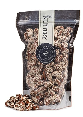 The Nuttery Freshy Roasted Sesame Almonds - 16 ounce Pouch Bag (1lb)