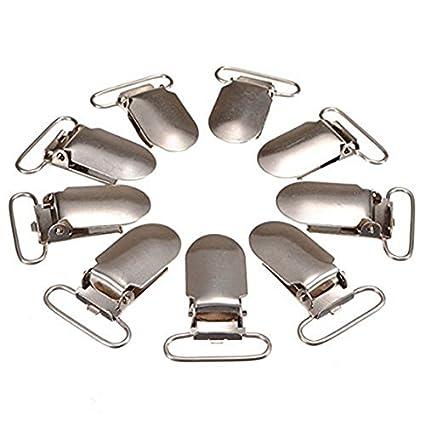 qualità eccellente altamente elogiato carino economico SODIAL(R)30pz Clips bretella tessitura gancio Ciuccio per Artigianato -  Argento