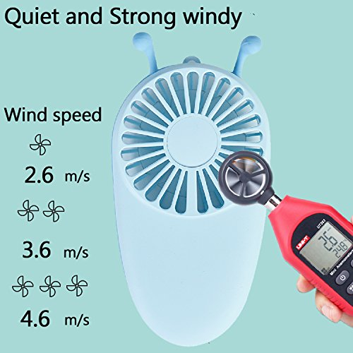 YAKOO Personal Handheld Fan, 3 Speed Electric Portable Pocket Fan USB Rechargeable Battery Cooling Fan Mini Size for Kids Girls Woman Room Outdoor Office Household Traveling- Little Bee Design by YAKOO (Image #5)