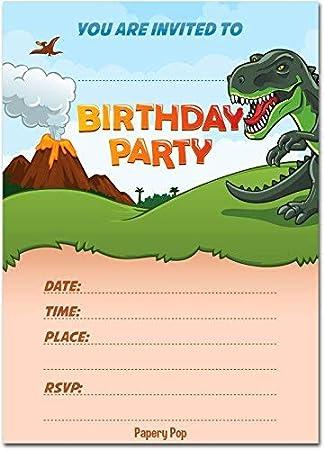 amazon co jp 30 dinosaur birthday invitations with envelopes 30