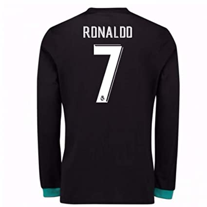 3c177bf01c7 Image Unavailable. Image not available for. Color  2017-18 Real Madrid Away  Long Sleeve ...