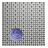 mDesign Stall Sized Soft Plastic Non-Slip Bath Mat for Bathroom Shower or Tub - Strong Suction Hold - Use in Master, Guest, Kids Bathrooms - Quick Drying, Circle Design - Charcoal Gray