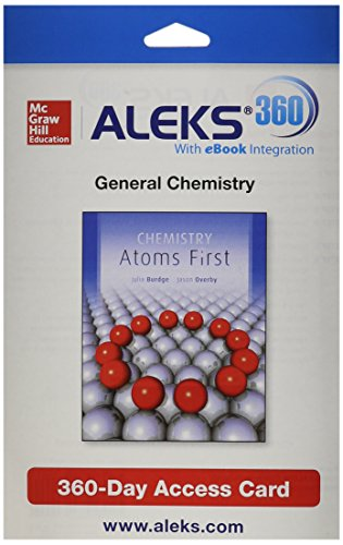 ALEKS 360 Access Card (2 Semester) for Chemistry: Atoms First