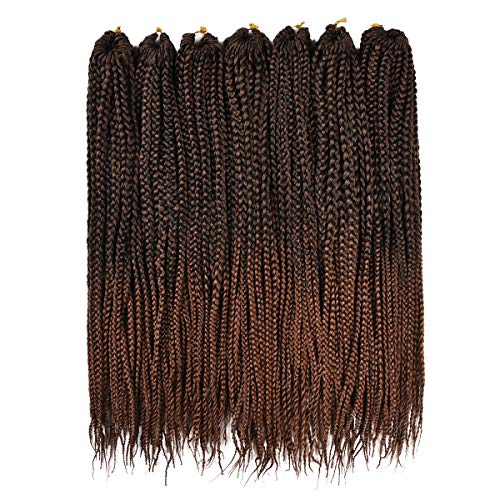 Alileader 6 Packs/Lot 22 Strands/Pack Ombre Box Braids Crochet Hair 24 Inch 1cm in Diameter 3X Synthetic Braiding Hair Extensions Crochet Braids Hair (Omber#30)