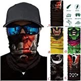 HighlifeS Cycling Motorcycle Head Scarf Full Function Ski Motorcycle Neck Tube Warmer Cycling Biker Scarf Wind Face Mask (A)