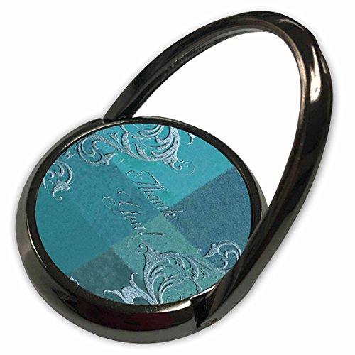 3dRose Beverly Turner Thank you Design - Elegant Vines on Aqua Green, Thank you - Phone Ring (phr_55085_1)
