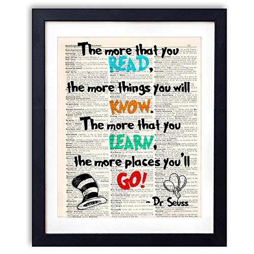akeke Dr Seuss Quotes and Sayings Vintage Book Art Prints - 8
