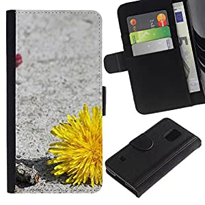 All Phone Most Case / Oferta Especial Cáscara Funda de cuero Monedero Cubierta de proteccion Caso / Wallet Case for Samsung Galaxy S5 V SM-G900 // Plant Nature Forrest Flower 34