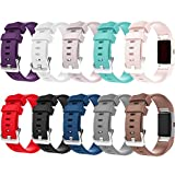 #9: For Fitbit Charge 2 Bands, New Bracelet Strap Replacement Band Wristband with Secure Silicone Fasteners Metal Clasps for Fitbit Charge 2 (No Tracker)