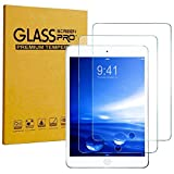 [2 pack] KIQ Premium Tempered Glass Screen Protector For Apple iPad 9.7 (2017) (5th Gen) [ Real GLASS - 9H Hardness - Anti-Scratch - Bubble-Free - Self-Adhering - Easy installation - 0.30mm Thickness]