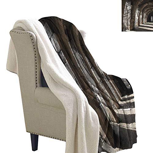 (Jaydevn Ancient Blanket Small Quilt Dark Shadows Stone Portico Microfiber Blanket 60x32 Inch)