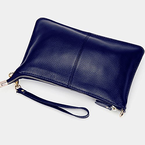 for Purse TOPSHINE Blue Fashion Crossbody Clutch Wristlet Phone Bag Wallets leather Small Women Navy tzqUzAxa