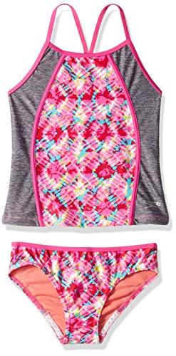 Speedo Rhythmic Tie Dye Tankini (7-16), Pink, -