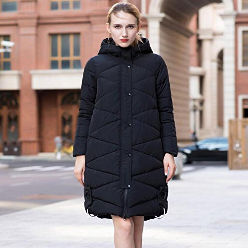 TT&FUSHI Autumn and winter ladies were thin hooded cotton long section thick thick thick jacket , l