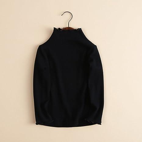 ... Femenino bebé niño Ropa bebé niña Cuello Alto Collar de Hongos Color sólido Tocando Fondo Camisa Camisa Camiseta Ropa de Abrigo: Amazon.es: Electrónica