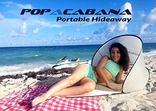 Popacabana Portable Beach pop up Tent No More Umbrellas (Tan, Personal face Sun Blocker)