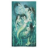 "Beautiful Mermaid Sale Custom Bath Towels Large Soft and Comfortable Travel Beach Bathroom Shower Washcloth Wrap for Men/Women 80% Polyester 20% Cotton, (30"" x 56"")"
