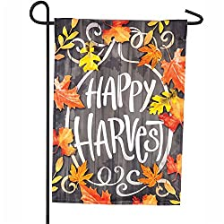 Evergreen Happy Harvest LED Applique Garden Flag