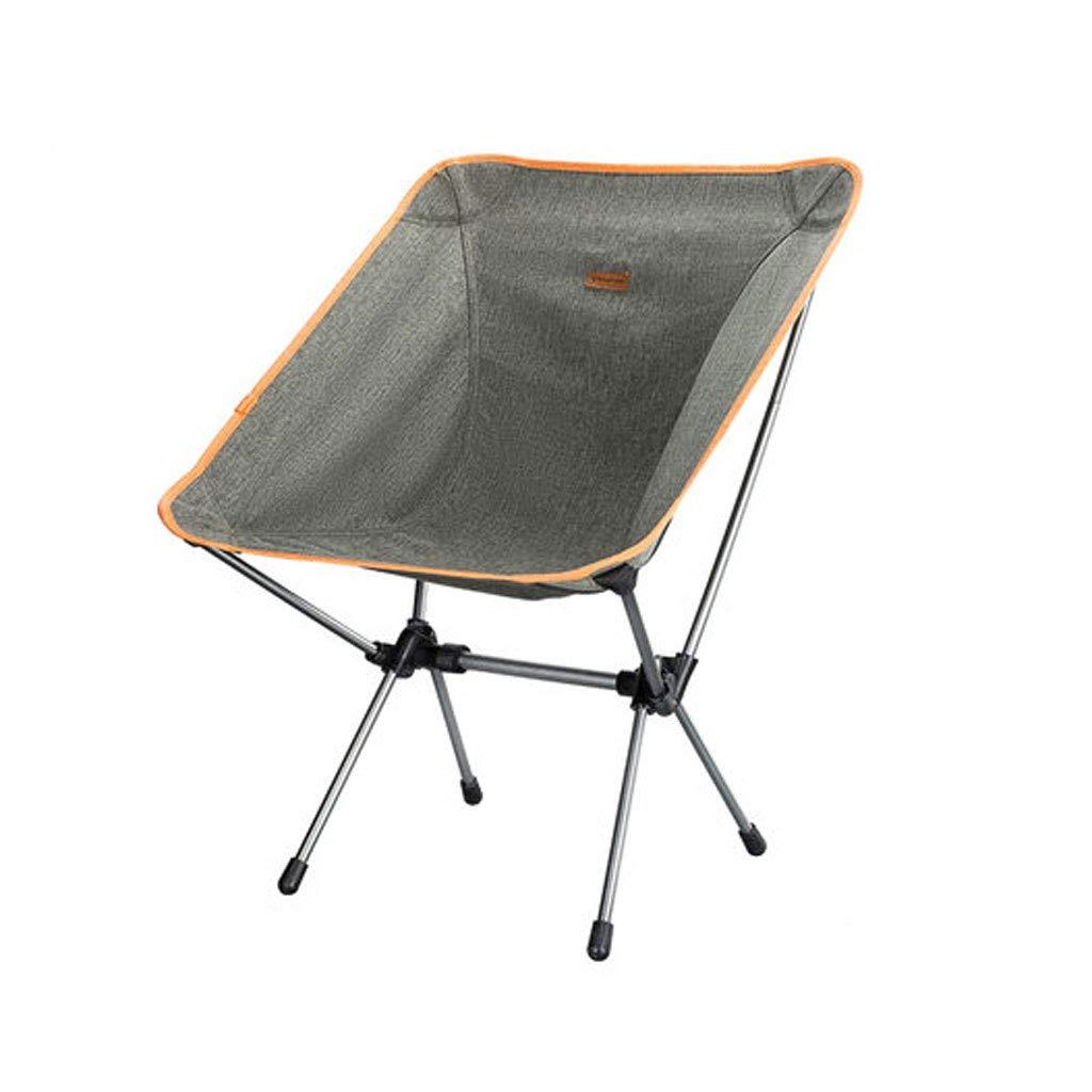 BFQY FH Klappstuhl, Tragbarer Ultraleichter Stabiler Camping-Strand-Fischen-Stuhl Im Freien 52 × 53 × 67cm, Grau