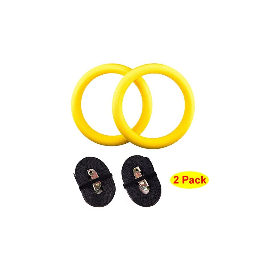 HOSL Olympic Exercise Fitness Crossfit Gymnastic Rings With Straps for Full Body Strength and Crossfit Training