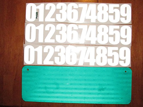 Inch Number 3 Reflective (DIY Premium 911 Green 3M Prismatic Reflective Address Sign Kit. W/ 3 Inch Numbers and Reflective Plate for Home or Business By Mg2 Signs)
