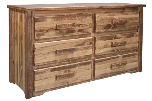- Montana Woodworks MWHC6DSL Homestead Collection 6-Drawer Dresser, Stain & Lacquer Finish