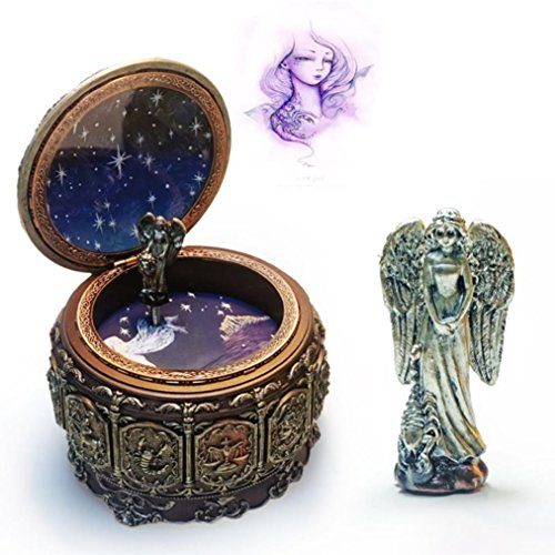 HANYI Vintage Mechanical Classical Collectible Translucidus Music Box with Twelve constellations, Plays Castle in the Sky - Scorpio by HANYI