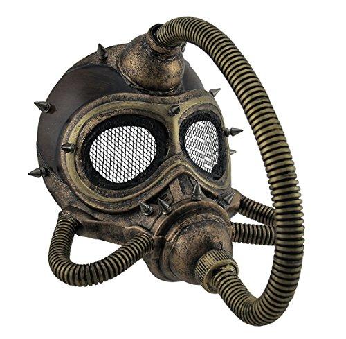 Metallic Spiked Steampunk Submarine Gas