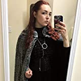 Sansa Stark Game of Thrones Inspired Silver Circle Chain Necklace with spike cosplay jewelry