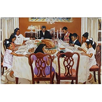Together We Give Thanks Artist Kathrerine Roundtree 24x36 Black Art Print Poster African American 1 2436USB2131