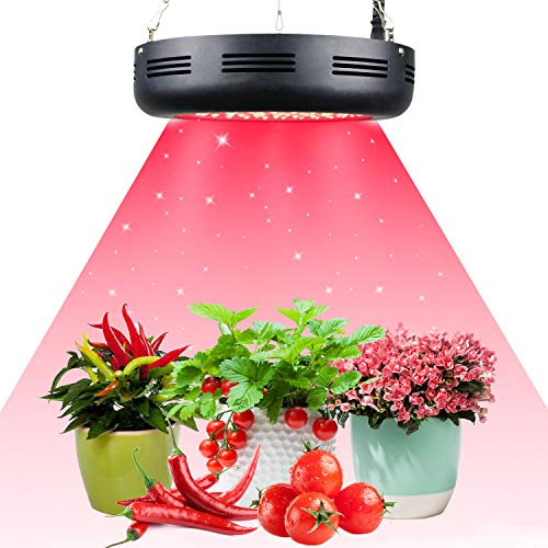 Growstar 300W UFO All Deep Red LED Grow Light,660nm Full Red Spectrum for Indoor & Greenhouse Hydroponics Plants Bloom Flowering Booster and Fruiting,Growing Spectrum Enhancement